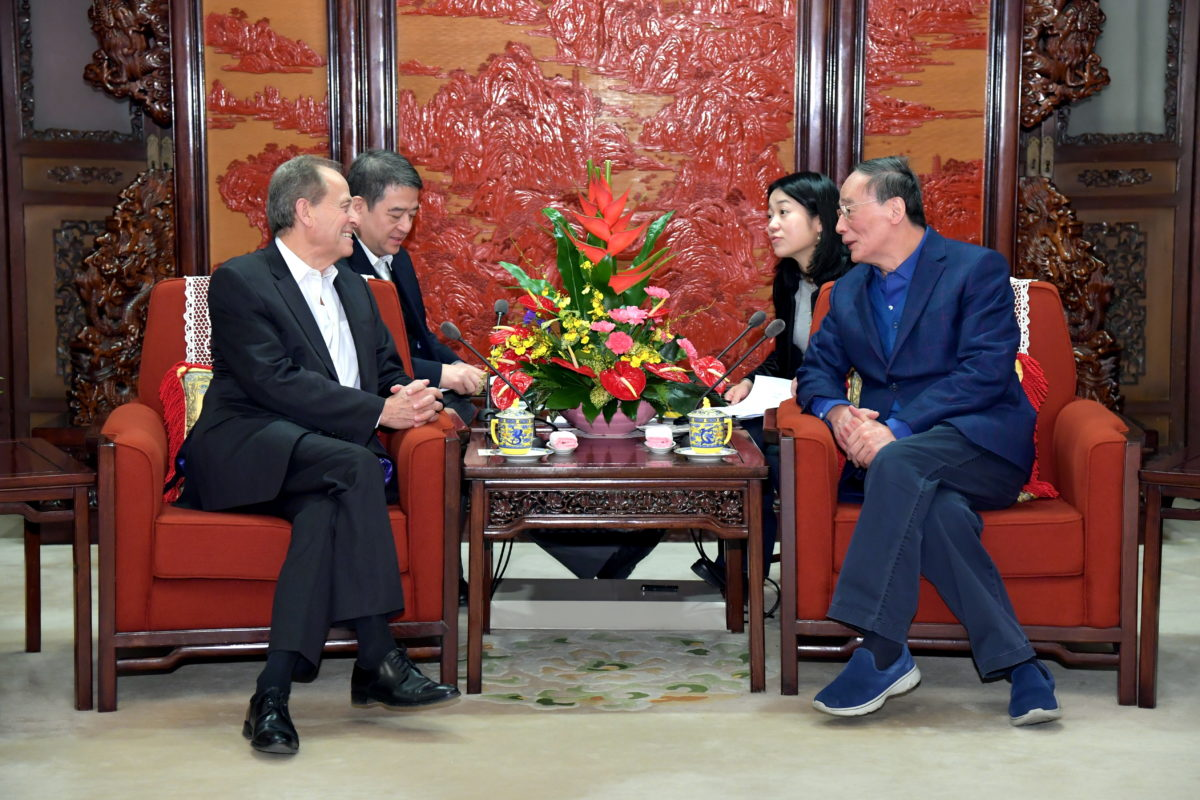 The 48 Group Club Stephen Perry Meeting with Wang QiShan
