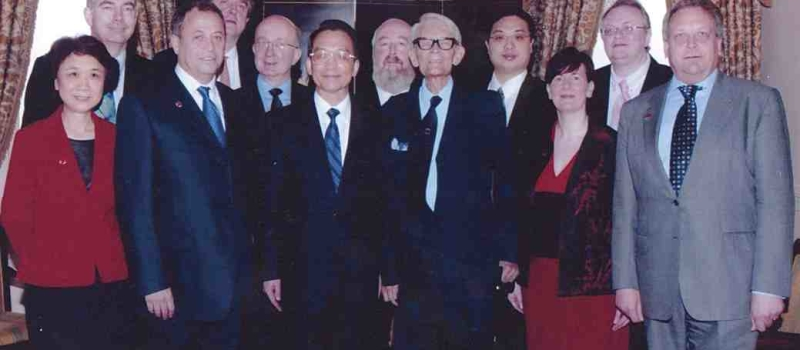 About the Club:  Wenjia bao visiting the UK in 2004