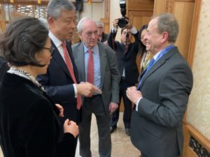 Stephen Perry Award China Reform Friendship Medal Group Conversation